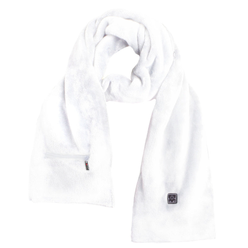 Heated Scarf - White