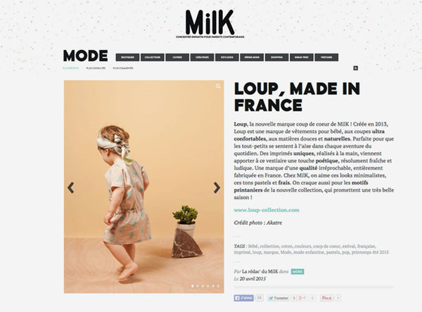 LOUP MILK MAGAZINE AVRIL 2015
