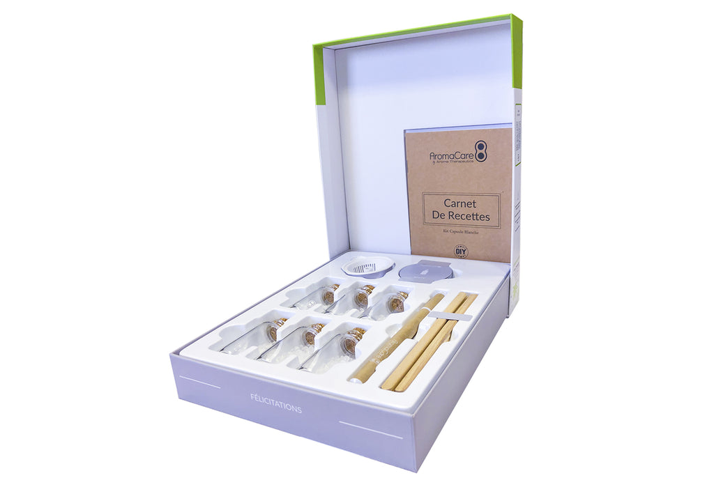 Kit capsule Blanche AromaCare diffusez vos huiles essentielles