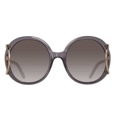 Chloe CE703S 035 Jackson Round Grey Ladies Sunglasses