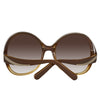 Chloe CE713S 228 Ladies Brown/Yellow Gradient Sunglasses