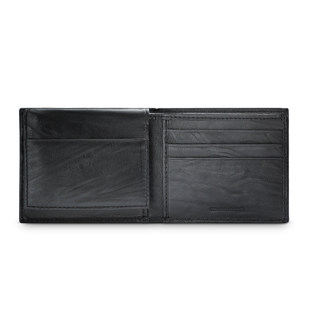 APT.9 Men's Black Leather Passcase Bifold Wallet