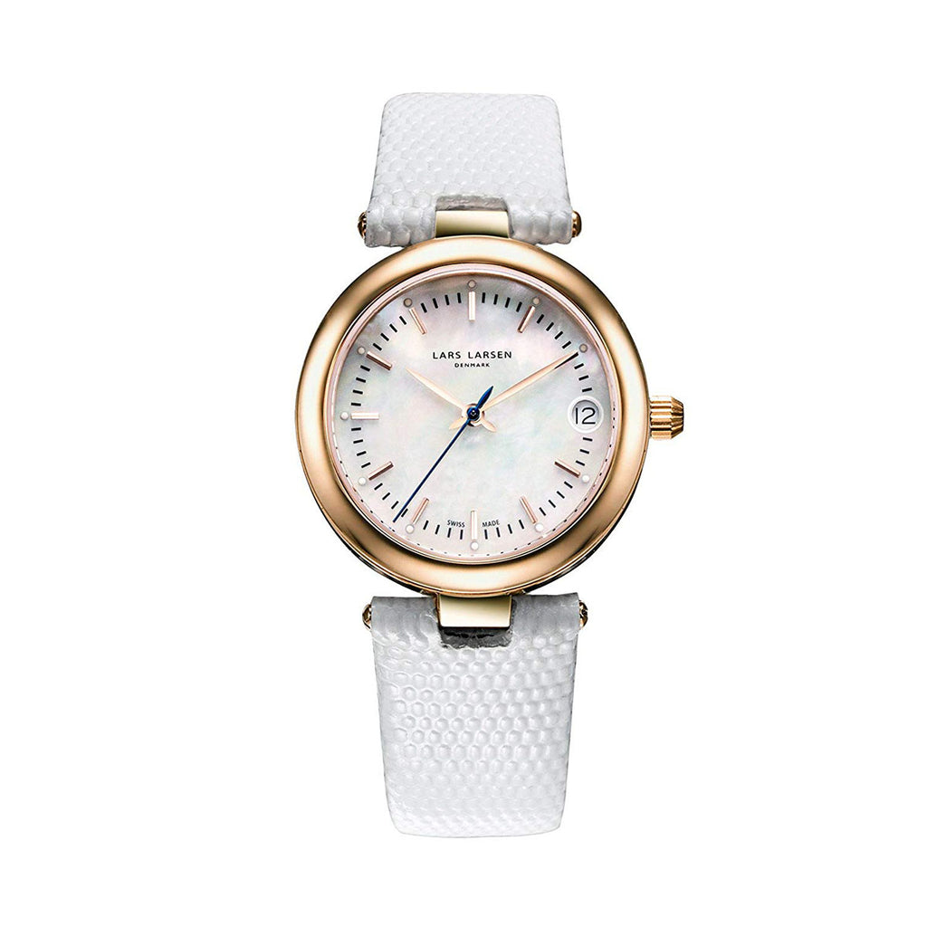 Lars Larsen 126RMWL Viviann Ladies White Leather Watch