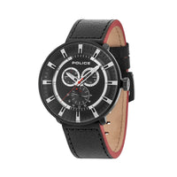 Police 15040XCYB/02 Men's Black Leather Watch