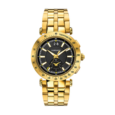 Versace VAH070016 Men's V-Race Gold-Tone Chronograph Watch