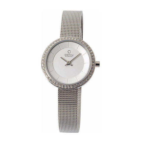Obaku V146LECIMC Ladies Silver Quartz Watch