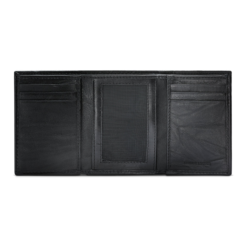 APT.9 Men's Black Leather Slim Passcase Bifold Wallet