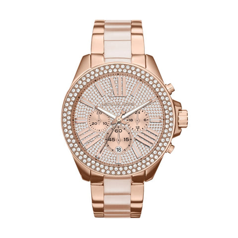 Michael Kors  MK6096 Wren Rose Gold Chronograph Ladies Watch