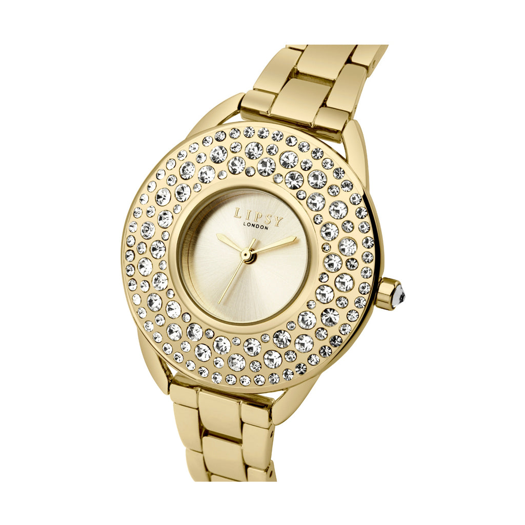 Lipsy LP443 Ladies Gold Stainless Steel Watch