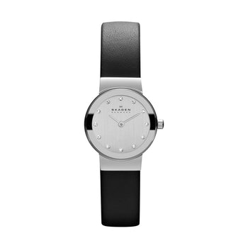 Skagen  358XSSLBC Freja Ladies Leather Glitz Watch