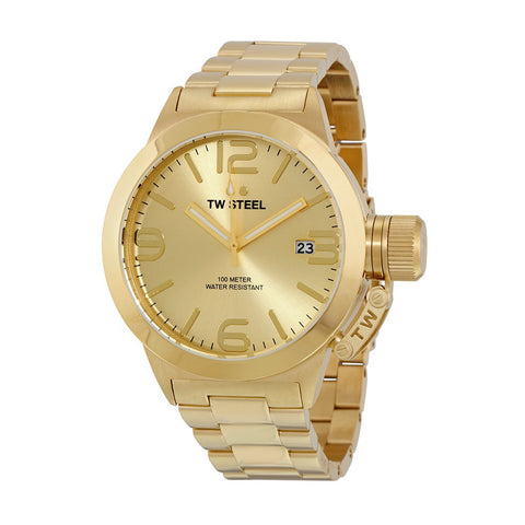 TW Steel CB101 Canteen Men's Gold-Tone Stainless Steel Quartz Watch