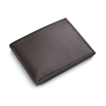 Croft&Barrow 31CB22X008 Men's Brown Leather Passcase Billfold Wallet