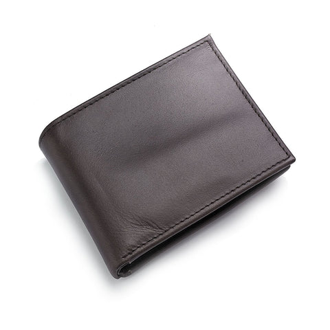 Croft&Barrow 31CB22X019 Men's Brown Leather Slim Passcase Bifold Wallet