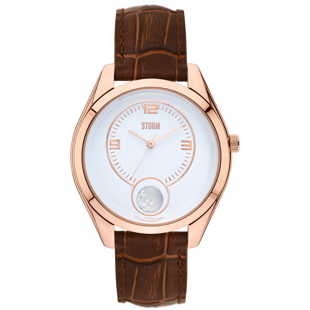 Storm Orba LHR RG-Brown Ladies' Orba PVD Rose Gold Plated Steel Watch