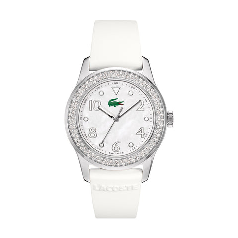 Lacoste 2000647 Ladies' White Rubber Strap Quartz Watch