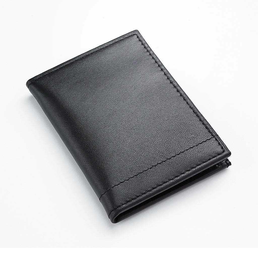 APT.9 Men's Black Leather W/ID Window Wallet