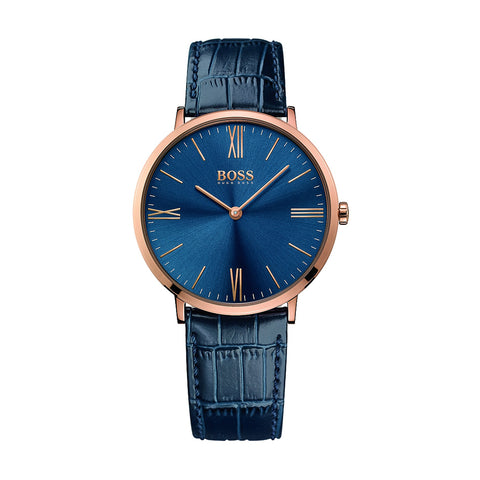 Hugo Boss 1513371 Jackson Men's Blue Leather Strap Watch