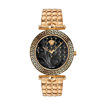 Versace Vanitas Ladies'  PVD Rose Gold Plated Watch - VK7250015