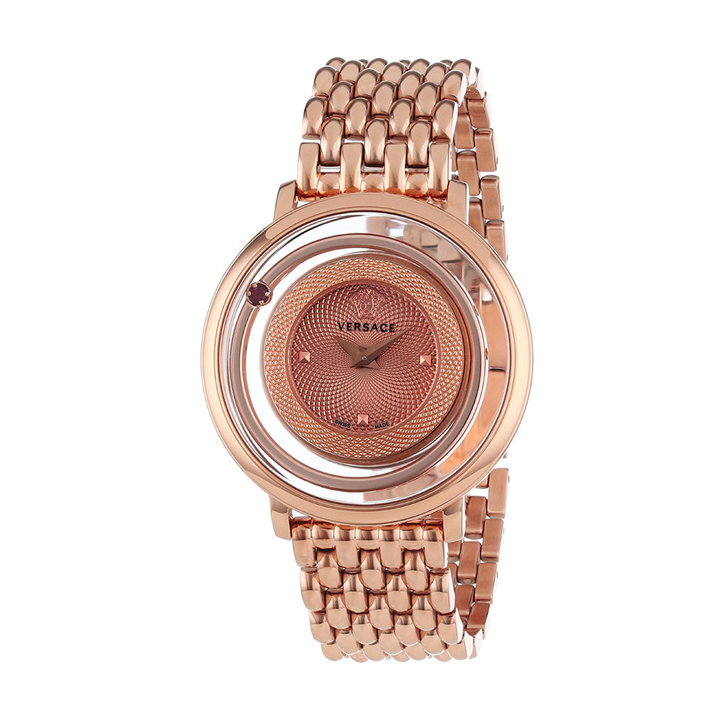 Versace Venus Ladies PVD Rose Gold Plated Watch VFH050013