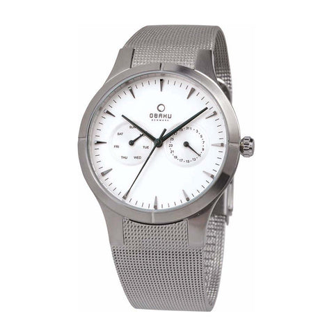 Obaku V100GCIMC  Men's Silver Quartz Watch