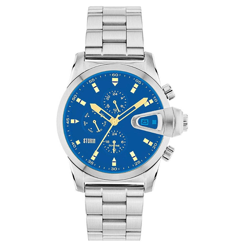 Storm 47310/LB Manator Lazer Blue Men's Dual Time Watch