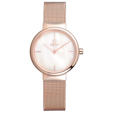 Obaku V153LXVWMV Ladies  Rose Gold Watch