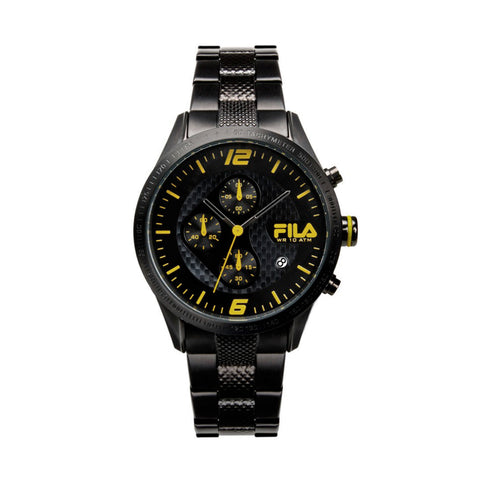 Fila 38-001-004 Men's Chronograph Black Stainless Steel Quartz Watch