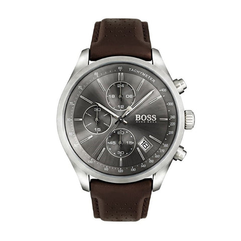 Hugo Boss 1513476 Men's Grand Prix Chronograph Leather Watch