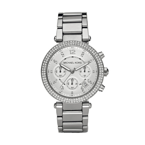 Michael Kors MK5353 Ladies Silver Chronograph Watch