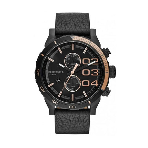 Diesel DZ4327 Double Down Men's Chronograph Black Leather  Watch