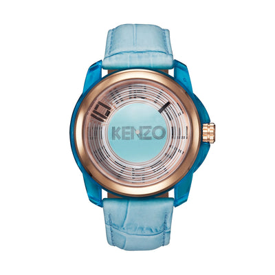 Kenzo K0094004 Men's Blue Leather Watch