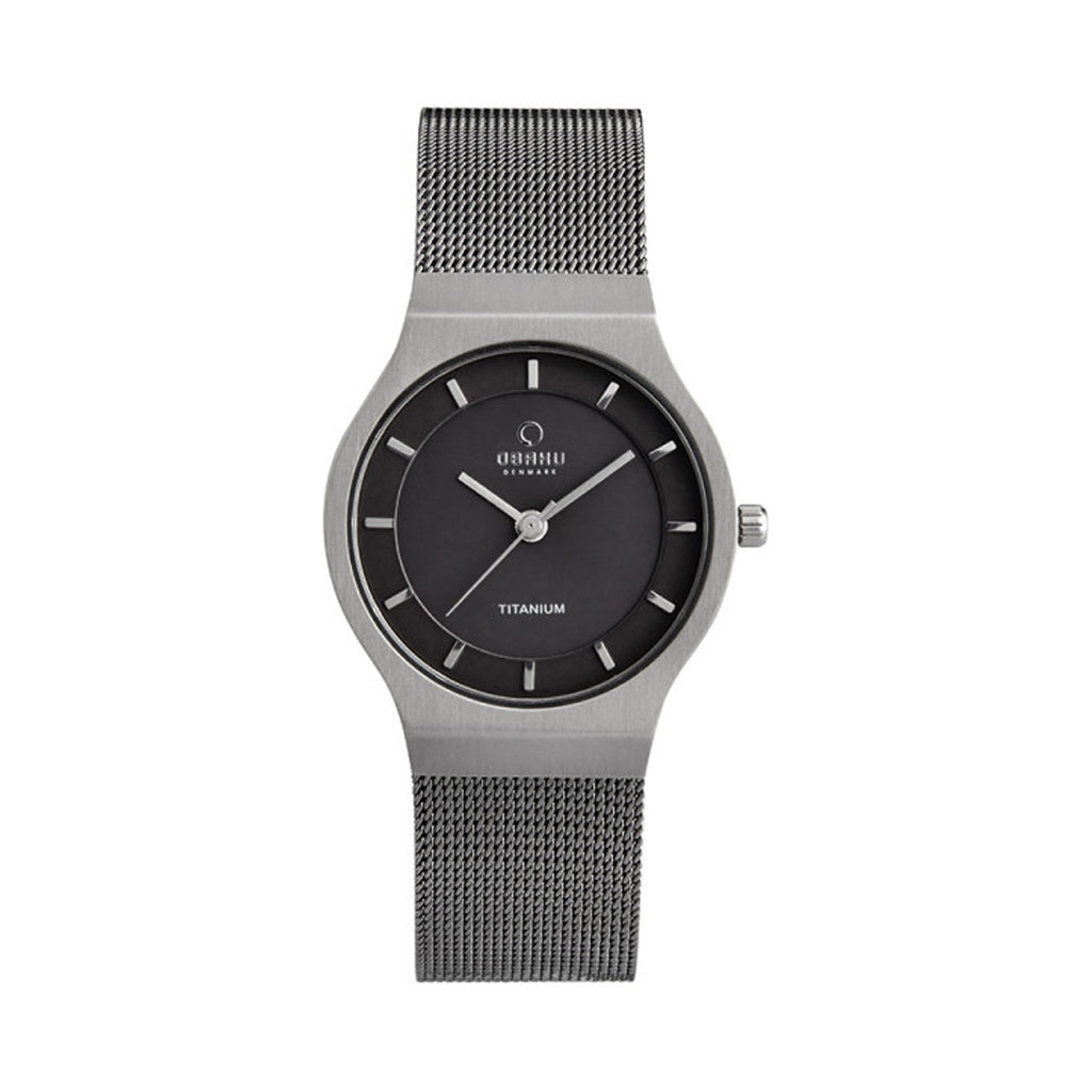 Obaku V123LTJMJ Unisex Stainless Steel Mesh Watch