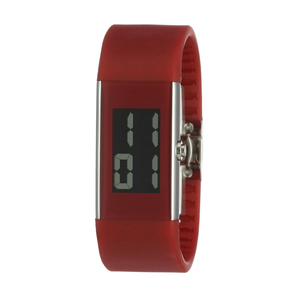 Rosendahl 43128 Ladies Red with Polished Stainless Steel Case Digital Watch