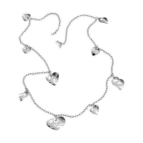 Guess USN80902 Ladies Stainless Steel Silver Chain Necklace
