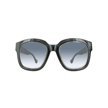 Balenciaga BA0050-01B-52 Shiny Black Gradient Lens Sunglasses