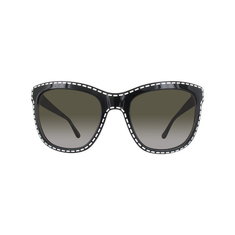 Moschino MO759S01SA Ladies Black Stitched Embossed Sunglasses