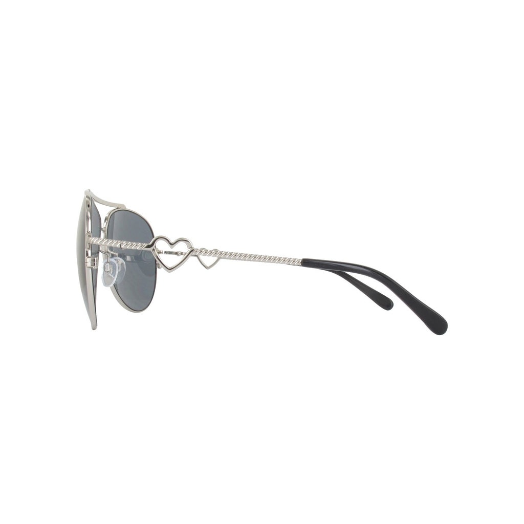 Moschino MO53803 Ladies Silver Aviator Sunglasses