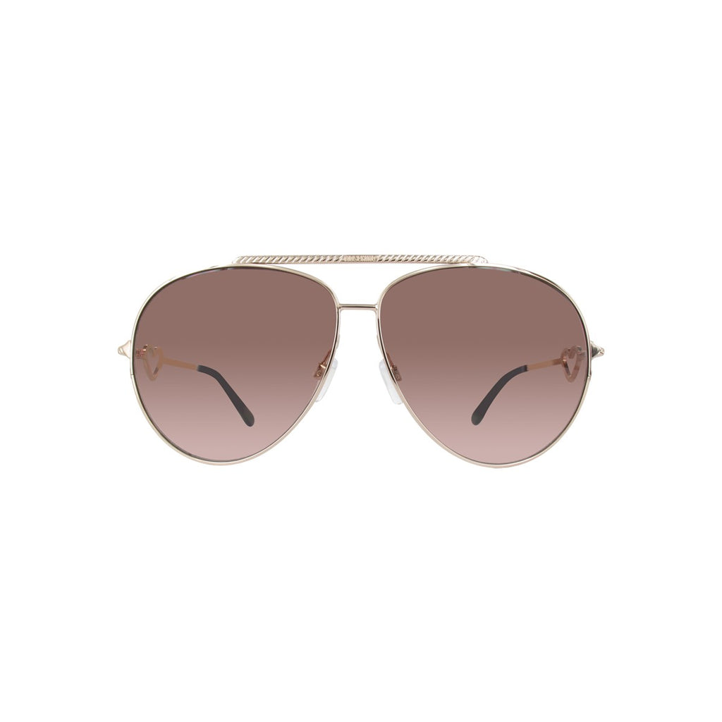 Moschino MO53804S Ladies Gold Aviator Sunglasses