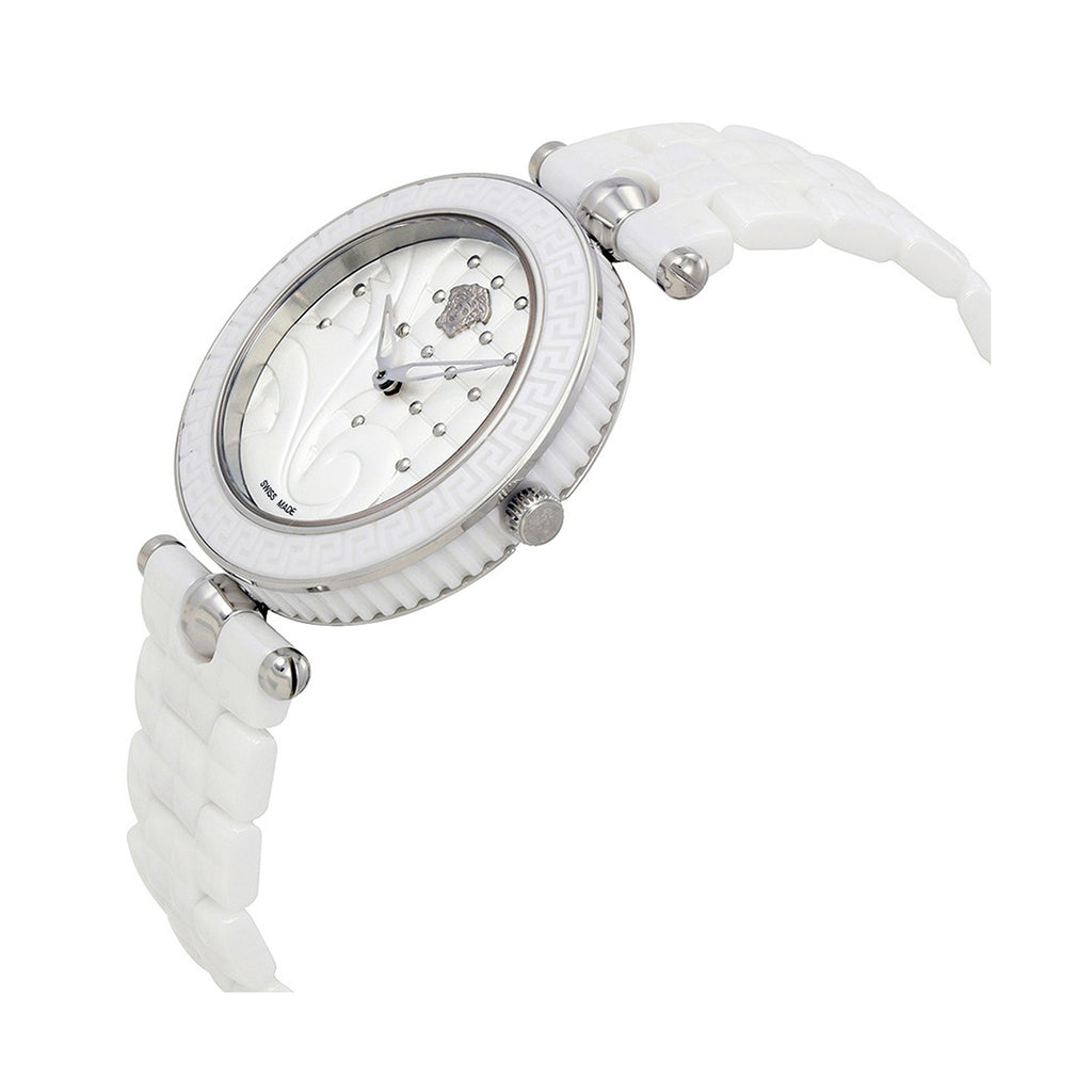 Versace Vanitas Ladies White Ceramic Stainless Steel Watch - VAO010016