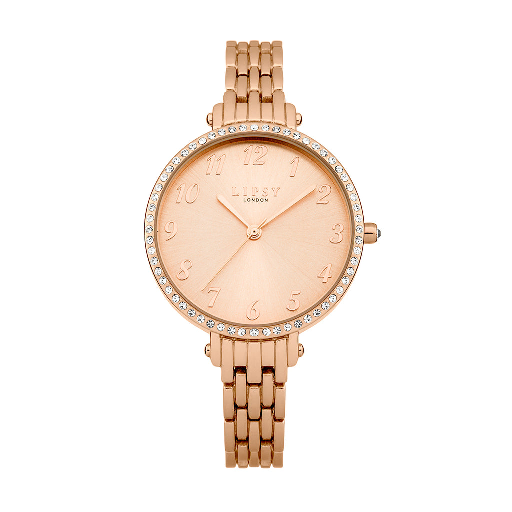 Lipsy LP405 Ladies Rose Gold Watch