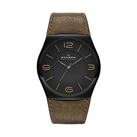 Skagen SKW6042  Men's Black Ion-plated Steel Case Perspektiv Watch