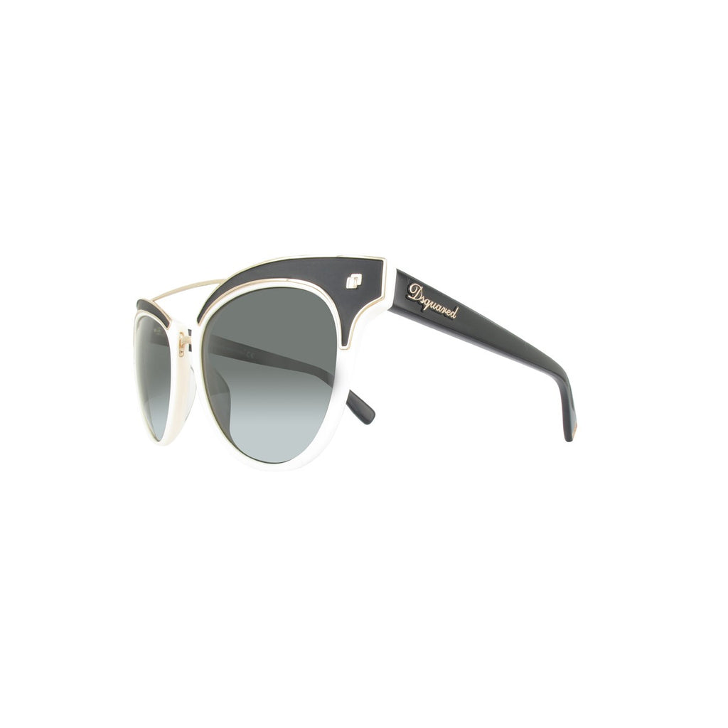 DSquared2 DQ0215/S 25A Cora Ladies Ivory/Smoke Sunglasses
