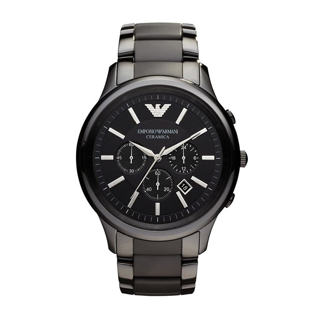 Emporio Armani AR1451 Men's Black Chronograph Watch