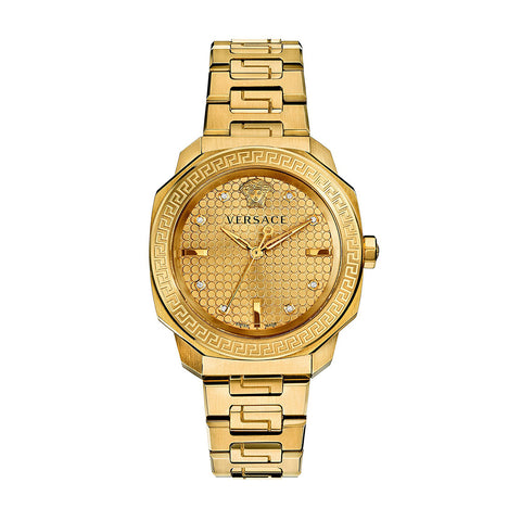 Versace VQD060015 Dylos Ladies PVD Gold Watch