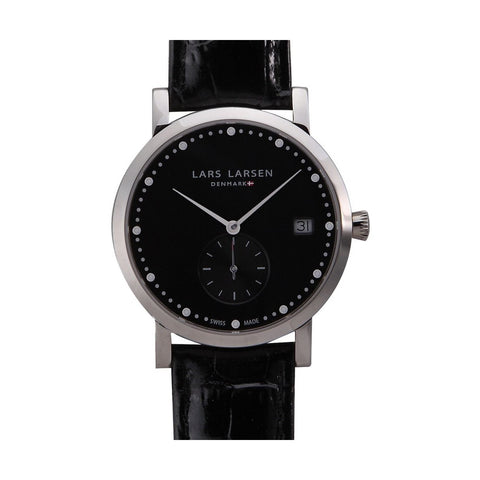 Lars Larsen 137SBBL Ladies Emma Black Leather Watch