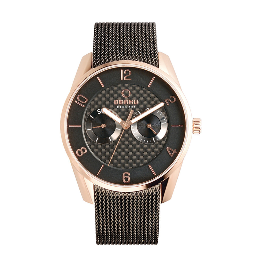 Obaku V171GMVBMB Flint Men's Brown Quartz Watch