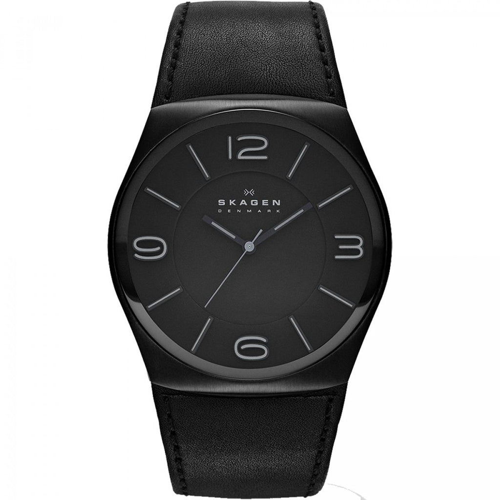Skagen  SKW6043 Perspektiv Men's Black Leather Quartz Watch