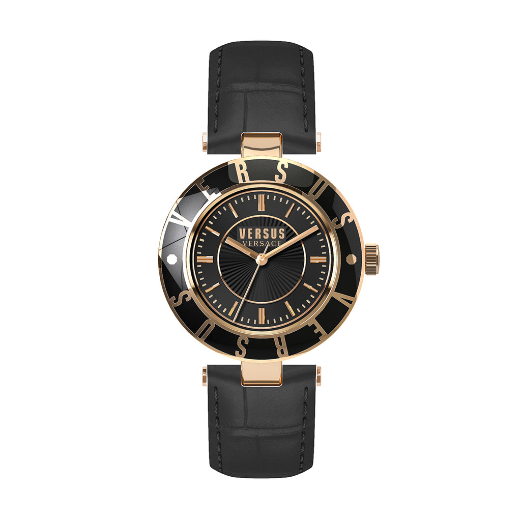 Versus By Versace Sp816 0015 Ladies Logo Leather Watch