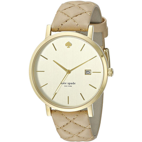 Kate Spade 1YRU0844 New York Metro Grand Quilter Ladies Watch