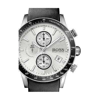 Hugo Boss 1513403 Rafale Silver Dial Men's Chronograph Watch